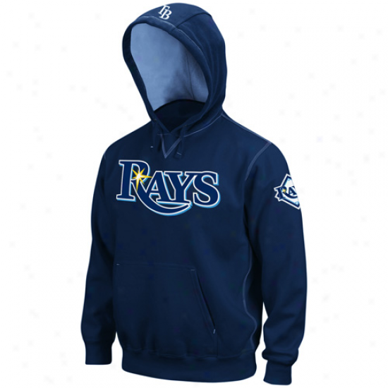 Majestic Tampa Bay Rays Navy Blue Bright Child Pullover Hoody Sweatshirt