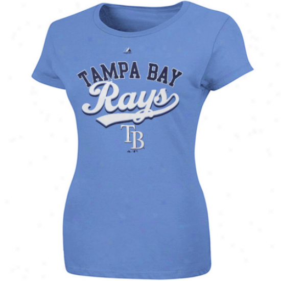 Majestic Tampa Bay Rays Women's The Essentials T-shirt - Light Blue