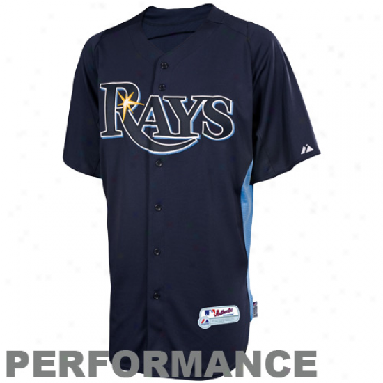 Majestic Tampa Bay Rays Youth Batting Practice Performance Jersey - Ships of war Blue-light Blue