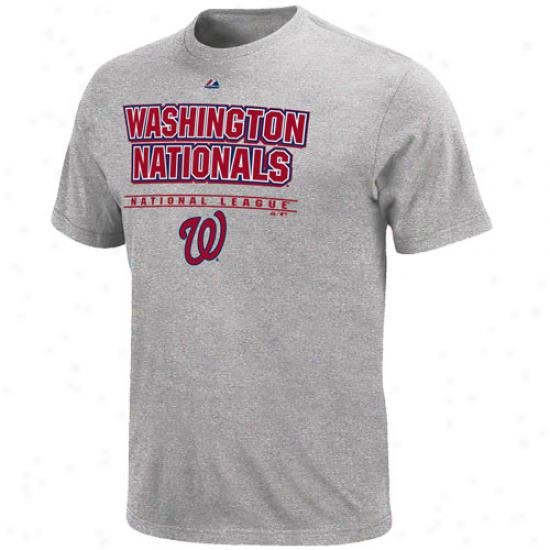 Majestic Washington Nationals Oppojent T-shirt - Ash