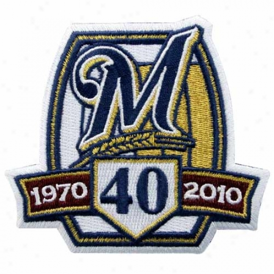 Milwaukee Brewers Embroidered 40th Anniversary Collectible Patch