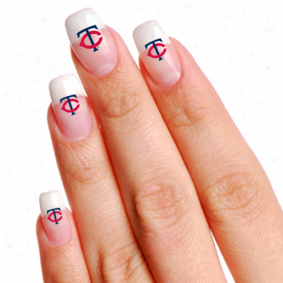 Minnesota Twins 4-pack Temporary Nail Tattoos