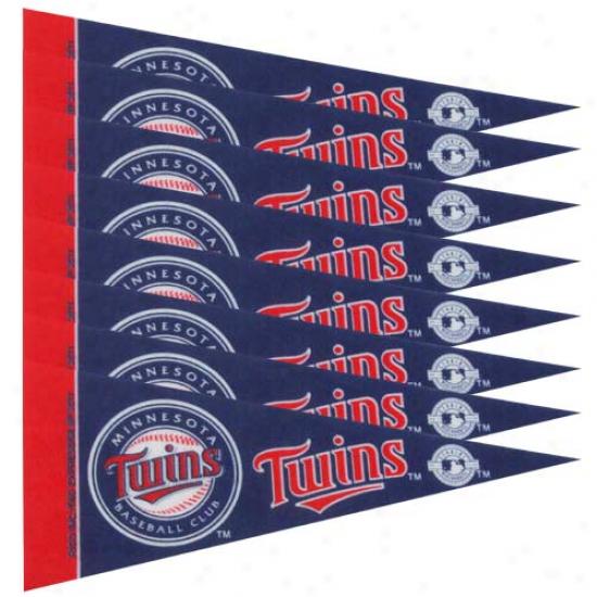 Minnesota Twins 8-pack 4'' X 9'' Navy Blue Mini Pennant Set
