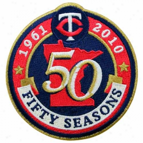 Minnesota Twins Embroidered 50th Anniversary Collectible Patch