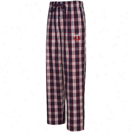 Minnesota Twins Navy Blue-red Camus Pajama Pants