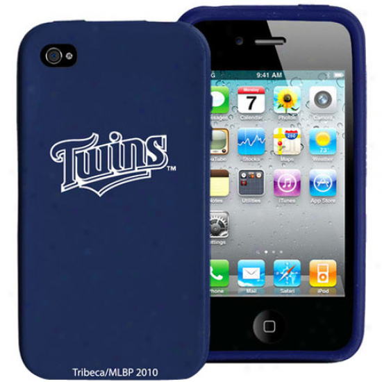 Minnessota Twins Navy Blue Silicone Iphone 4 Case