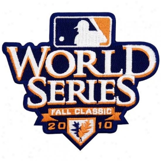 Mlb 2010 World Series Fall Classic Embroidered Logo Collectible Patch
