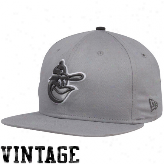 New Era Baltimore Orioles Gray Comeback 9fifty Snapback Adjustable Hat