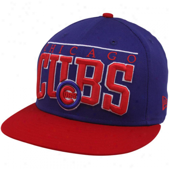 New Eea Chicago Cubs Royal Blue 9fifty Le Arch Snapback Adjustable Hat