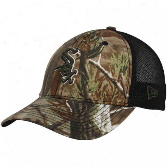 New Epoch Chicago White Sox 39thirty Realtre3 Trucker Fitted Mesh Camo Hat
