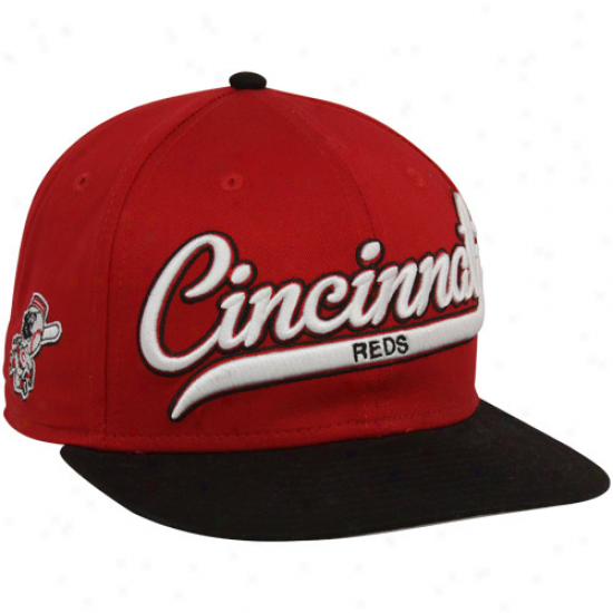 Just discovered Era Cincinnati Reds Red-black Scripter Snapback Adjustable Hat