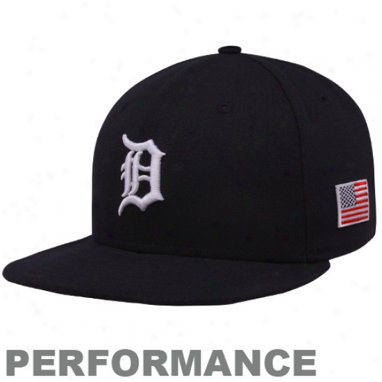 New rEa Detroit Tigers Black On-field 59fifty Usa Flag Fitted Performance Hzt