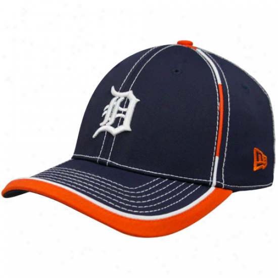Novel Era Detroit Tigers Navy Blue Taktodd 39thirty Stretch Fit Hat