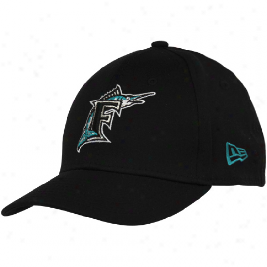 New Epoch Florida Marlins Youth Black Cooperstown Tie Breaker 39thirty Stretch Humor Hat