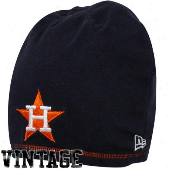 New Era Houston Astros Navy Blue-orange Cooperstown Reversible Beanie