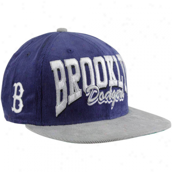 New Epoch L.a. Dodgers Royal Blue-silver 9fifty Corduroy Snapback Adjustable Hat