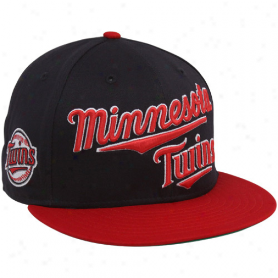 New Epoch Minnesota Twins Navy Blue-red 9fifty Mondo Snapback Adjustable Hat