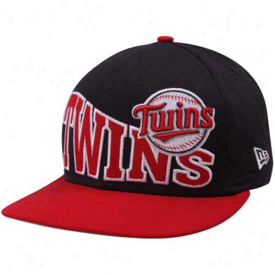 New Era Minnesota Twins Navy Blue-red Stoked Snapback Hat