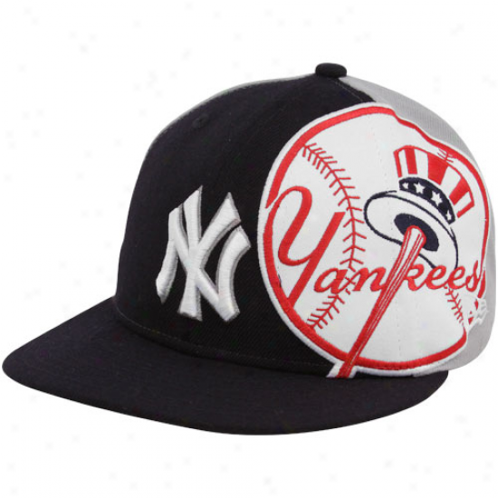 Novel Era New York Yankees Ships Blue-gray Side Fill 59fifty Fitted Hat