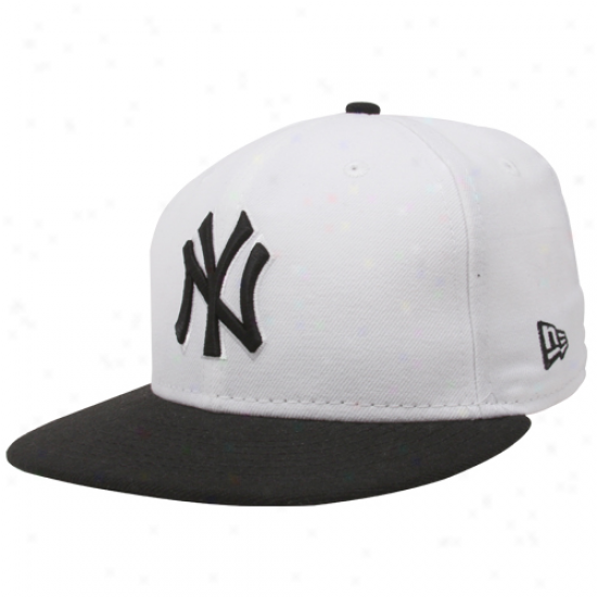 New Era New York Yankees White-black 59fifty Two-tone Fashion Fitted Hat