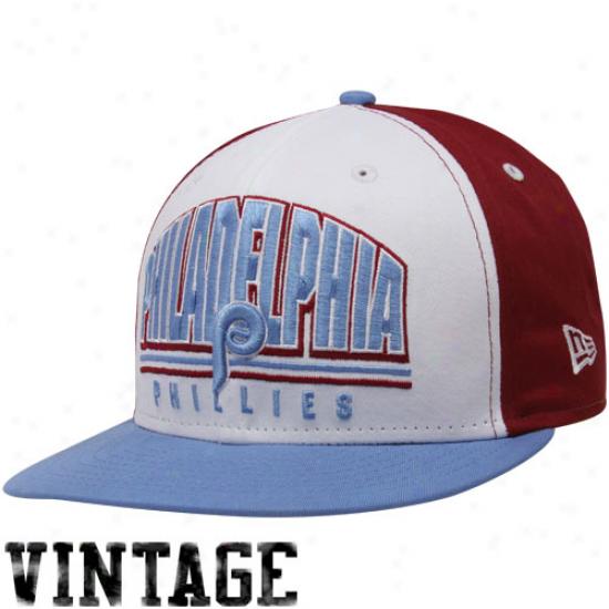 New Era Philadelphia Phillies Maroon-white-light Blue Monolith 9fifty Snapback Adjusttable Hat