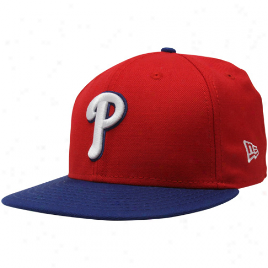 New Era Philadelphia Phillies Red-royal Dismal Two-tone Basic 59fifty Fitted Hat
