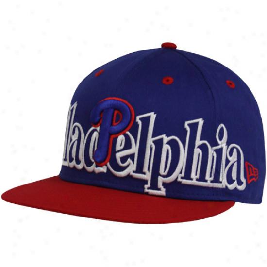 New Era Philadelphia Phillies Royal Blue-red Big City Punch 9ffty Snabpack Adjustable Hat