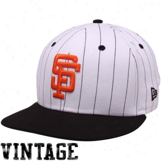 New Era San Francisco Giants White-black Pinstripe 9fifty Snapback Adjusrable Hat
