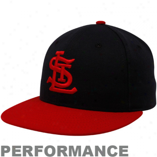 Ne wEra St. Louis Cardinals Navy Blue-red Cooperstown On-field Performance 59fifty Fitted Hat