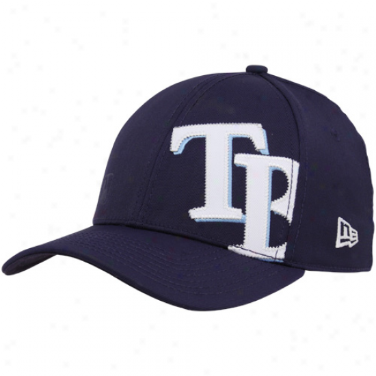 New Era Tampa Bay Rays Navy Blue Sire Patch 39thirty Flex Fit Hat
