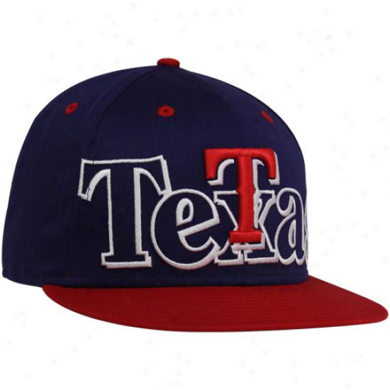 New Era Texas Rangers Royal Boue-red Big City Punch 9fifty Snapback Adjustable Hat