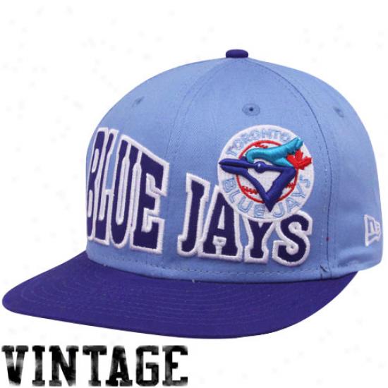 New Era Toronto Blue Jays Light Blue-navy Blue Stoked 9fifty Snapback Adjustable Hat