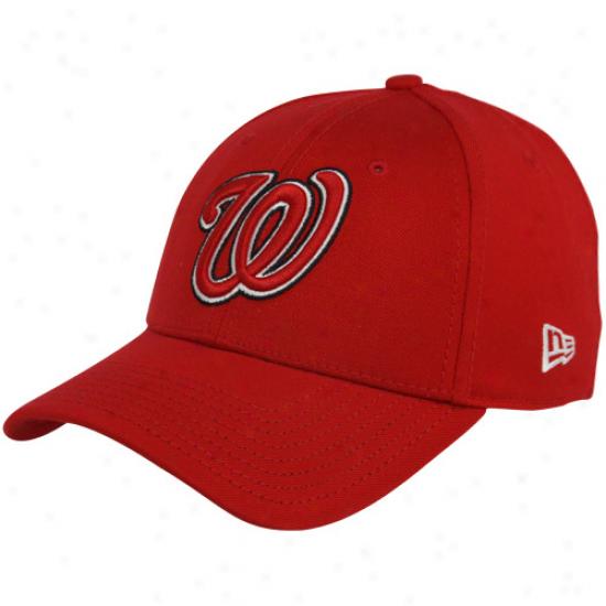 New Era Washington Nationals Red Team Tonal 39thirty Stretch Fit Hat
