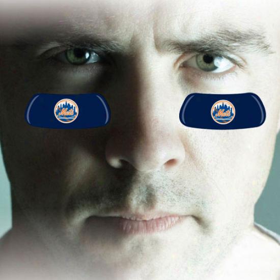 New York Mets 2-pair Royal Azure Team-colored Eye Black Strips