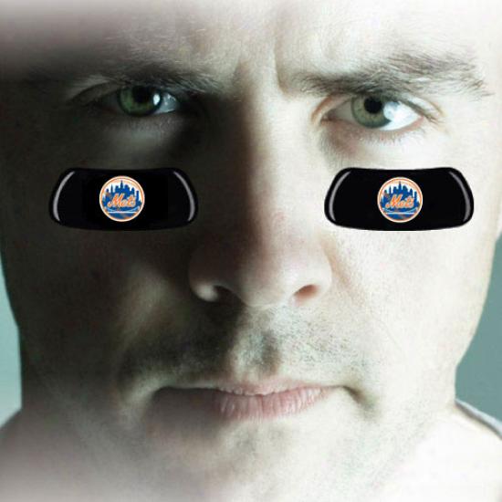 New York Mets 2-pair Team Logo Eye Black Strips