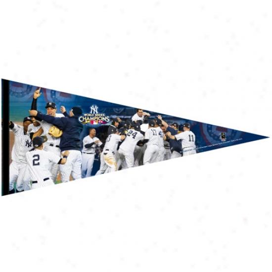 """new York Yankees 17"""" X 40"""" 2009 World Series Champions Player Premium Felt Pennant"""