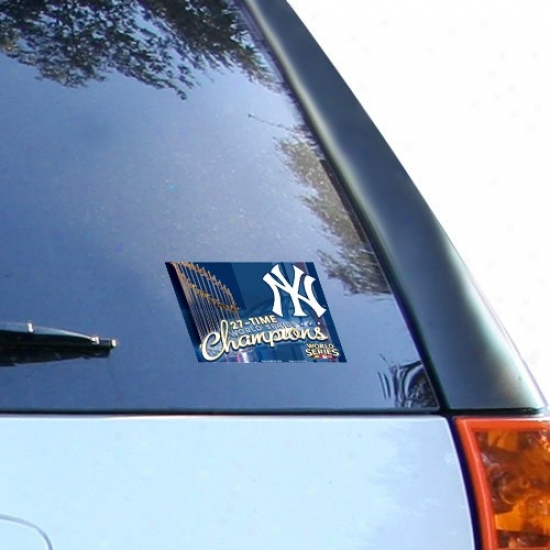 New York Yankees 2009 World Succession Champions 27-time Champs Ultra Deal Cling