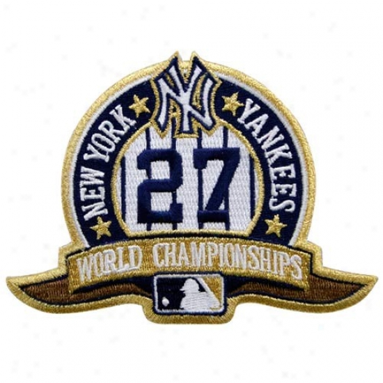 New York Yankees Embroidered 27x World Champions Collectible Patch