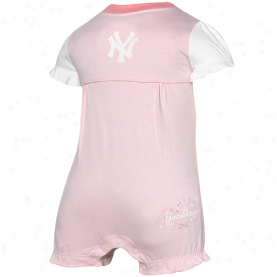 New York Yankees Infant Girls Pink Ruffled Romper