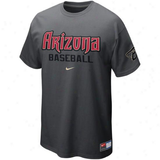 Nike Arizona Diamondbacks Away Practice T-shirt - Graphite