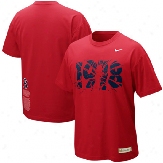Nike Boston Red Sox 1918 Shattered Rivalry Tri-blend T-shirt - Red