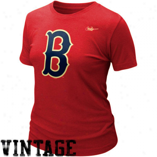 Nike Boston Red Sox Cooperstown Blebded Graphic Tri-blend T-shirt - Red