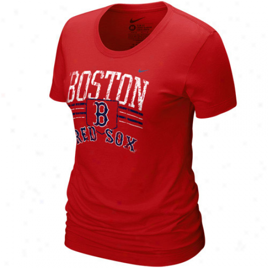 Nike Boston Red Sox Laries Red Home Field Tri-blend T-shirt