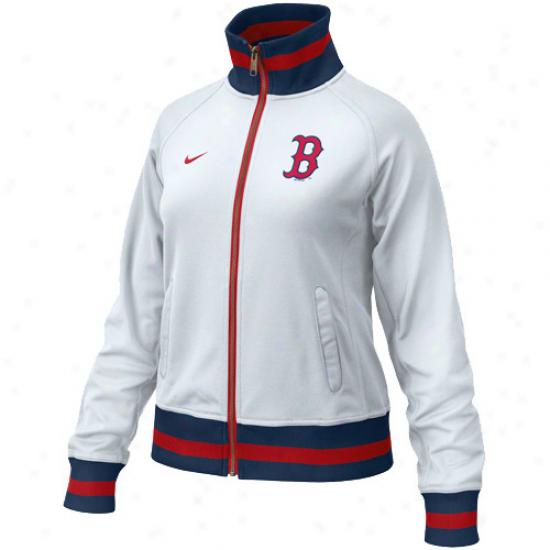 Nike Boston Red Sox Ladies White Trail Jacket