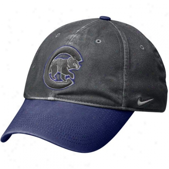 Nike Chicago Cubs Graphite-royal Blue Legacy 91 Circs Caych Flex Fit Hat