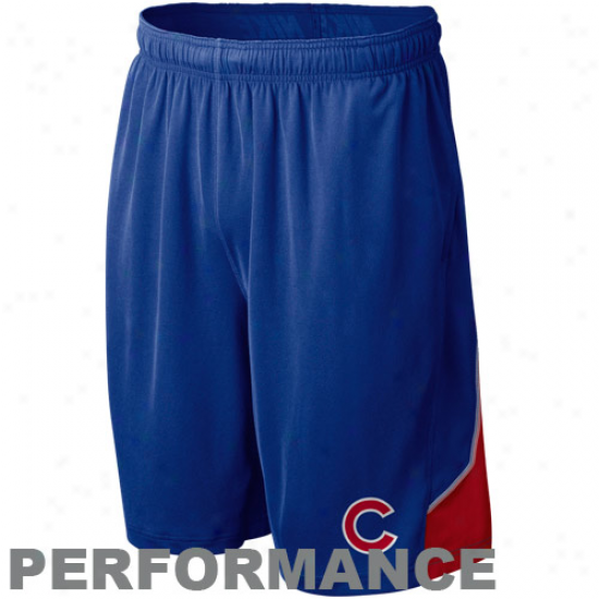 Nike Chicago Cubs Royal Livid Mlb Authentic Collection Performance Training Shorts