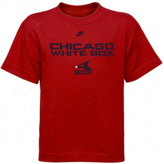 Nike Chicago Whi5e Sox Preschool Red Logo T-shirt