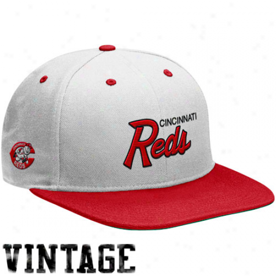 Nike Cincinnati Reds White-red Cooperstown Snapback Adjustable Cardinal's office
