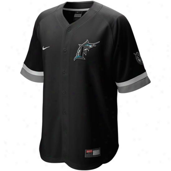 Nike Florida Marlins Baseball Fan Jersey - Black