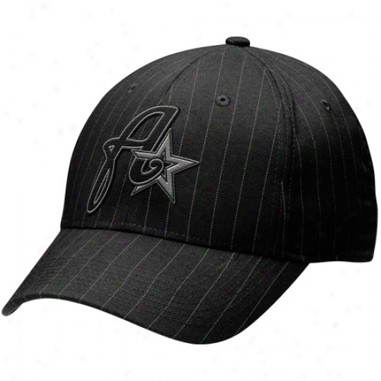 Nike Houston Astros Black Pinstripe Blackout Legacy 91 Unisex Flex Fit Hat